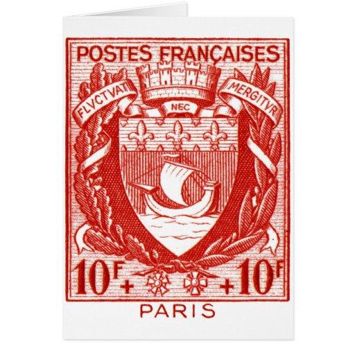 Escudo de armas París, Francia Tarjeta De Felicitación