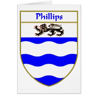 Escudo de armas Phillips/escudo de la familia Tarjeta De Felicitación