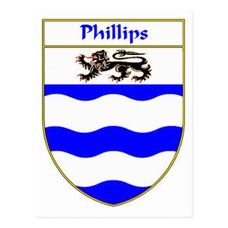 Escudo de armas Phillips/escudo de la familia Tarjetas Postales