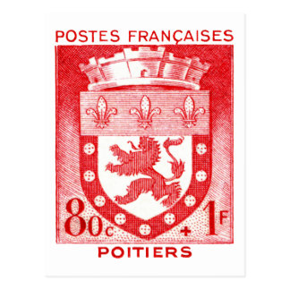 Escudo de armas, Poiters Francia Tarjeta Postal