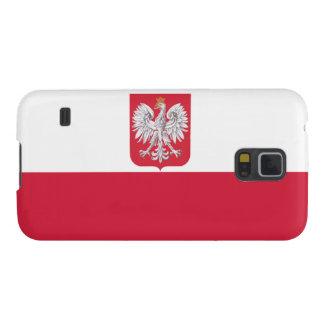 Escudo de armas polaco de la bandera carcasa de galaxy s5