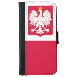 Escudo de armas polaco de la bandera funda cartera para iPhone 6