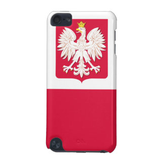 Escudo de armas polaco de la bandera funda para iPod touch 5G