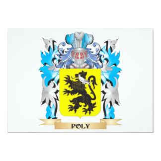 """Escudo de armas polivinílico - escudo de la invitación 5"""" x 7"""""""