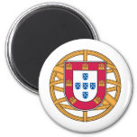 Escudo de armas portugués imanes para frigoríficos