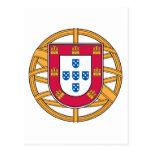 Escudo de armas portugués postal
