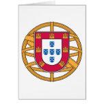 Escudo de armas portugués tarjetas