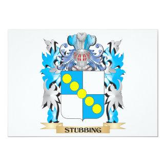 """Escudo de armas que tropieza - escudo de la invitación 5"""" x 7"""""""