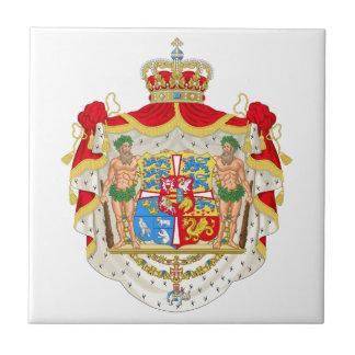 Escudo de armas real danés del vintage de Dinamarc