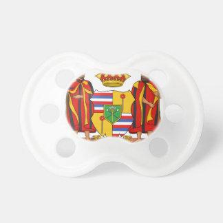 Escudo de armas real de Hawaii Chupetes Para Bebes