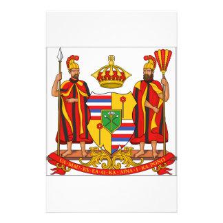 Escudo de armas real de Hawaii Papeleria