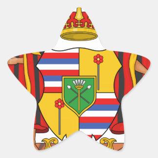 Escudo de armas real de Hawaii Pegatinas Forma De Estrellaes Personalizadas