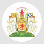 Escudo de armas real del Reino de Escocia Etiqueta