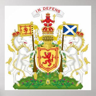 Escudo de armas real del Reino de Escocia Póster