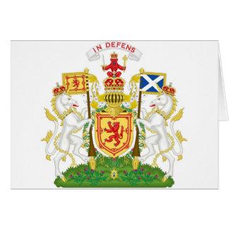 Escudo de armas real del Reino de Escocia Felicitaciones
