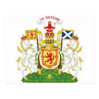 Escudo de armas real del Reino de Escocia Postales