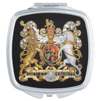 Escudo de armas real. (Reino Unido) Espejo Para El Bolso