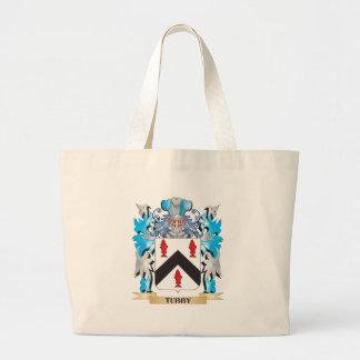 Escudo de armas rechoncho - escudo de la familia bolsa tela grande