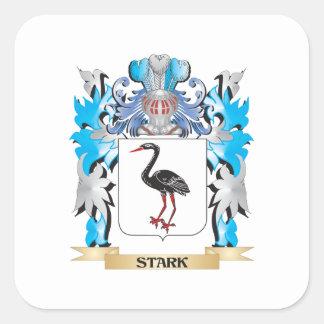 Escudo de armas rígido - escudo de la familia pegatina cuadrada