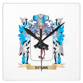 Escudo de armas rígido - escudo de la familia reloj de pared