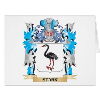 Escudo de armas rígido - escudo de la familia tarjeta de felicitación grande