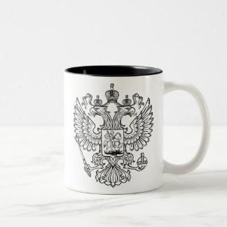 Escudo de armas ruso de la Federación Rusa Tazas De Café