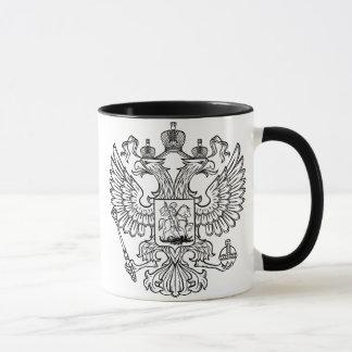Escudo de armas ruso de la Federación Rusa Taza