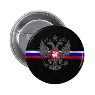 Escudo de armas ruso pin redondo de 2 pulgadas