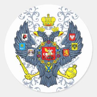 Escudo de armas ruso viejo Герб Pegatina Redonda
