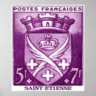 Escudo de armas, Saint-E'tienne Francia Póster
