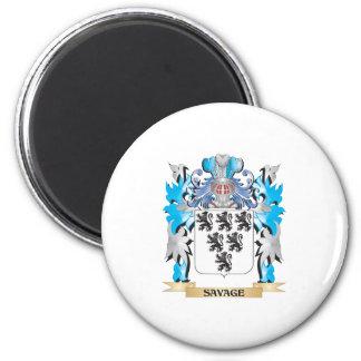 Escudo de armas salvaje - escudo de la familia iman para frigorífico