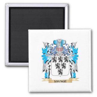 Escudo de armas salvaje - escudo de la familia imanes de nevera