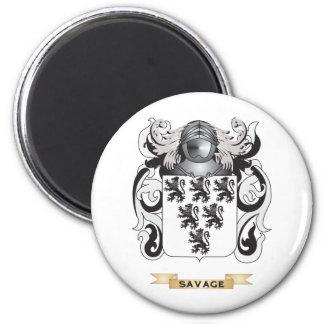 Escudo de armas salvaje (escudo de la familia) imanes de nevera