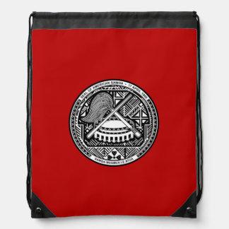 Escudo de armas samoano americano mochilas