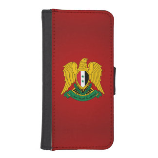 Escudo de armas sirio funda tipo billetera para iPhone 5