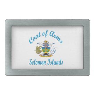 Escudo de armas Solomon Island Hebillas Cinturón Rectangulares