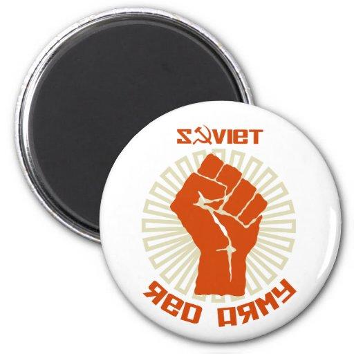 Escudo de armas soviético del ejército rojo imán para frigorifico