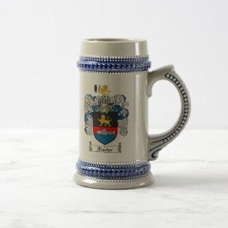 Escudo de armas Stein de Fischer/escudo Stein de Jarra De Cerveza