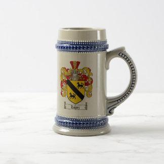 Escudo de armas Stein de López/taza del escudo de Jarra De Cerveza