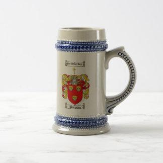 Escudo de armas Stein de los párrocos Jarra De Cerveza