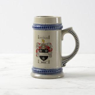 Escudo de armas Stein del alfarero Jarra De Cerveza