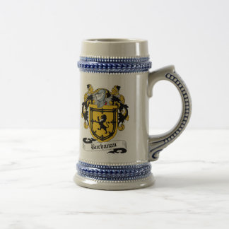 Escudo de armas Stein - escudo de Buchanan de la Jarra De Cerveza