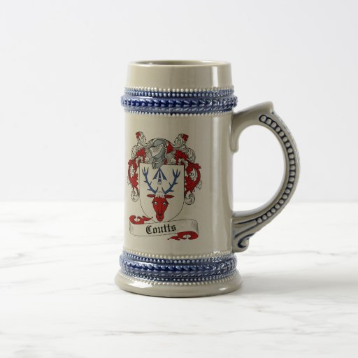 Escudo de armas Stein - escudo de Coutts de la fam Jarra De Cerveza