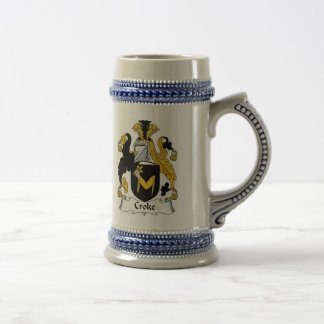 Escudo de armas Stein - escudo de Croke de la fami Taza De Café