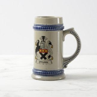Escudo de armas Stein - escudo de Johnston de la Jarra De Cerveza