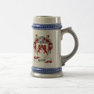 Escudo de armas Stein - escudo de la garza de la Jarra De Cerveza