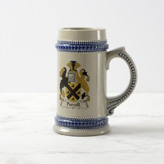 Escudo de armas Stein - escudo de Purcell de la fa Jarra De Cerveza
