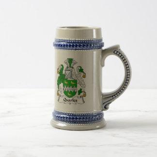 Escudo de armas Stein - escudo de Quarles de la Jarra De Cerveza