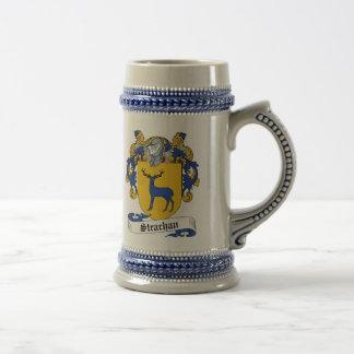 Escudo de armas Stein - escudo de Strachan de la f Tazas De Café