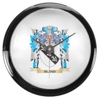 Escudo de armas suave relojes pecera